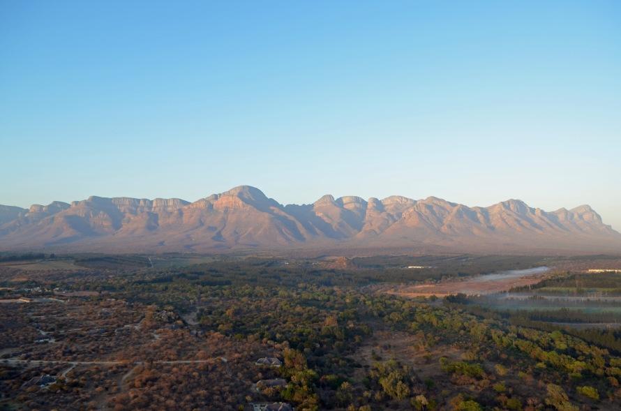 Sunrise lighting up the Drakensberg
