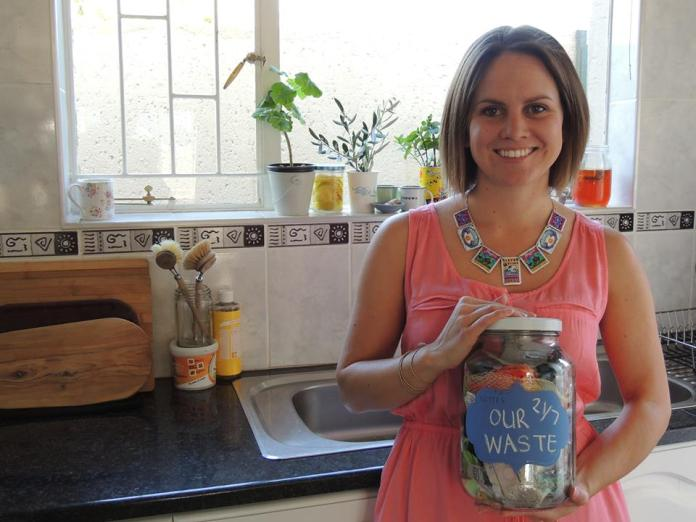Colleen with a jar of Waste