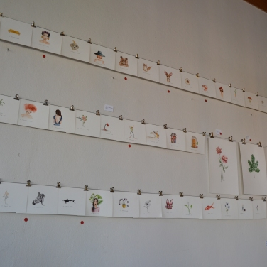 The current art Exhibit.