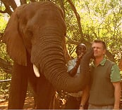 Liaan with Elephant