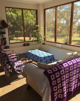 Relaxing, sunny veranda
